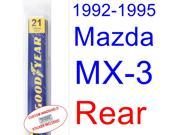1992-1995 Mazda MX-3 Wiper Blade (Rear) (1993,1994)