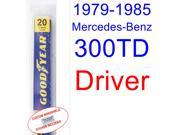 1979-1985 Mercedes-Benz 300TD Wiper Blade (Driver) (1980,1981,1982,1983,1984)