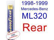 1998-1999 Mercedes-Benz ML320 Wiper Blade (Rear)
