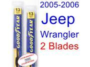 2005-2006 Jeep Wrangler Replacement Wiper Blade Set/Kit (Set of 2 Blades)