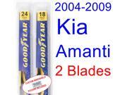 2004-2009 Kia Amanti Replacement Wiper Blade Set/Kit (Set of 2 Blades) (2005,2006,2007,2008)