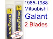 1985-1988 Mitsubishi Galant Replacement Wiper Blade Set/Kit (Set of 2 Blades) (1986,1987)