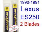 1990-1991 Lexus ES250 Replacement Wiper Blade Set/Kit (Set of 2 Blades)