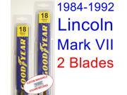 1984-1992 Lincoln Mark VII Replacement Wiper Blade Set/Kit (Set of 2 Blades) (1985,1986,1987,1988,1989,1990,1991)
