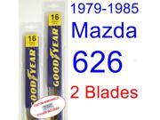 1979-1985 Mazda 626 Replacement Wiper Blade Set/Kit (Set of 2 Blades) (1980,1981,1982,1983,1984)