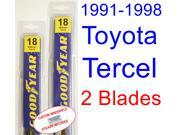 1991-1998 Toyota Tercel Replacement Wiper Blade Set/Kit (Set of 2 Blades) (1992,1993,1994,1995,1996,1997)