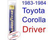 1983-1984 Toyota Corolla(Base) Wiper Blade (Driver)