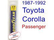 1987-1992 Toyota Corolla(LE) Wiper Blade (Passenger) (1988,1989,1990,1991)
