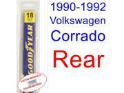 1990-1992 Volkswagen Corrado Wiper Blade (Rear) (1991)