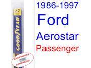 1986-1997 Ford Aerostar Wiper Blade (Passenger) (1987,1988,1989,1990,1991,1992,1993,1994,1995,1996) 9SIA89T30Z3797
