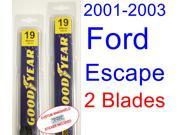 2001-2003 Ford Escape Replacement Wiper Blade Set/Kit (Set of 2 Blades) (2002)