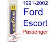 1991-2003 Ford Escort Wiper Blade (Passenger) (1992,1993,1994,1995,1996,1997,1998,1999,2000,2001,2002)