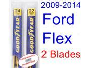 2009-2014 Ford Flex Replacement Wiper Blade Set/Kit (Set of 2 Blades) (2010,2011,2012,2013)