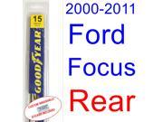 2000-2011 Ford Focus Wiper Blade (Rear) (2001,2002,2003,2004,2005,2006,2007,2008,2009,2010) 9SIA89T3111794