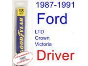 1987-1991 Ford LTD Crown Victoria Wiper Blade (Driver) (1988,1989,1990)