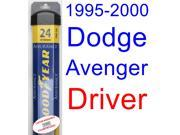 1995-2000 Dodge Avenger Wiper Blade (Driver) (Goodyear Wiper Blades-Assurance) (1996,1997,1998,1999) 9SIA89T36Y0724