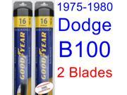1975-1980 Dodge B100 Replacement Wiper Blade Set/Kit (Set of 2 Blades) (Goodyear Wiper Blades-Assurance) (1976,1977,1978,1979)