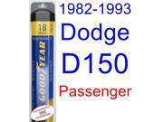 1982-1993 Dodge D150 Wiper Blade (Passenger) (Goodyear Wiper Blades-Assurance) (1983,1984,1985,1986,1987,1988,1989,1990,1991,1992)