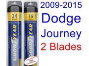 2009-2015 Dodge Journey Replacement Wiper Blade Set/Kit (Set of 2 Blades) (Goodyear Wiper Blades-Assurance) (2010,2011,2012,2013,2014)