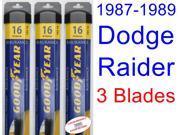 1987-1989 Dodge Raider Replacement Wiper Blade Set/Kit (Set of 3 Blades) (Goodyear Wiper Blades-Assurance) (1988)