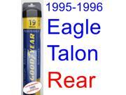 1995-1996 Eagle Talon Wiper Blade (Rear) (Goodyear Wiper Blades-Assurance)