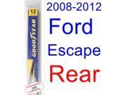 2008-2012 Ford Escape Wiper Blade (Rear) (Goodyear Wiper Blades-Assurance) (2009,2010,2011)