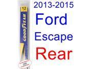 2013-2015 Ford Escape Wiper Blade (Rear) (Goodyear Wiper Blades-Assurance) (2014)