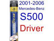 2001-2006 Mercedes-Benz S500 Wiper Blade (Driver) (Goodyear Wiper Blades-Assurance) (2002,2003,2004,2005)