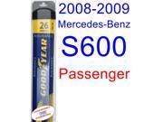 2008-2009 Mercedes-Benz S600 Wiper Blade (Passenger) (Goodyear Wiper Blades-Assurance)