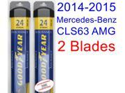 2014-2015 Mercedes-Benz CLS63 AMG 4Matic Replacement Wiper Blade Set/Kit (Set of 2 Blades) (Goodyear Wiper Blades-Assurance)