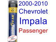 2000-2010 Chevrolet Impala Wiper Blade (Passenger) (Goodyear Wiper Blades-Assurance) (2001,2002,2003,2004,2005,2006,2007,2008,2009) 9SIA89T36Y2317