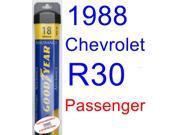1988 Chevrolet R30 Wiper Blade (Passenger) (Goodyear Wiper Blades-Assurance)