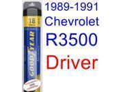 1989-1991 Chevrolet R3500 Wiper Blade (Driver) (Goodyear Wiper Blades-Assurance) (1990)