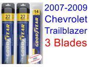 2007-2009 Chevrolet Trailblazer Replacement Wiper Blade Set/Kit (Set of 3 Blades) (Goodyear Wiper Blades-Assurance) (2008)
