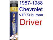 1987-1988 Chevrolet V10 Suburban Wiper Blade (Driver) (Goodyear Wiper Blades-Assurance)