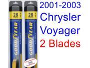 2001-2003 Chrysler Voyager Replacement Wiper Blade Set/Kit (Set of 2 Blades) (Goodyear Wiper Blades-Assurance) (2002)