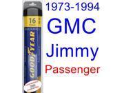 1973-1994 GMC Jimmy Wiper Blade (Passenger) (Goodyear Wiper Blades-Assurance) (1974,1975,1976,1977,1978,1979,1980,1981,1982,1983,1984,1985,1986,1987,1988,1989,1