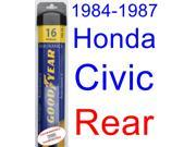 1984-1987 Honda Civic Wiper Blade (Rear) (Goodyear Wiper Blades-Assurance) (1985,1986)