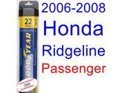 2006-2008 Honda Ridgeline Wiper Blade (Passenger) (Goodyear Wiper Blades-Assurance) (2007)