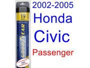 2002-2005 Honda Civic Si Wiper Blade (Passenger) (Goodyear Wiper Blades-Assurance) (2003,2004)