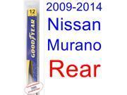 2009-2014 Nissan Murano Wiper Blade (Rear) (Goodyear Wiper Blades-Assurance) (2010,2011,2012,2013)