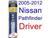 2005-2012 Nissan Pathfinder Wiper Blade (Driver) (Goodyear Wiper Blades-Assurance) (2006,2007,2008,2009,2010,2011)