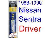 1988-1990 Nissan Sentra Wiper Blade (Driver) (Goodyear Wiper Blades-Assurance) (1989)
