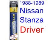 1988-1989 Nissan Stanza Wiper Blade (Driver) (Goodyear Wiper Blades-Assurance)