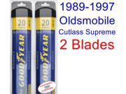 1989-1997 Oldsmobile Cutlass Supreme Replacement Wiper Blade Set/Kit (Set of 2 Blades) (Goodyear Wiper Blades-Assurance) (1990,1991,1992,1993,1994,1995,1996)