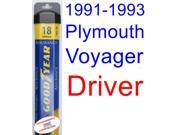 1991-1993 Plymouth Voyager Wiper Blade (Driver) (Goodyear Wiper Blades-Assurance) (1992)