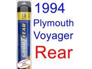 1994 Plymouth Voyager Wiper Blade (Rear) (Goodyear Wiper Blades-Assurance)