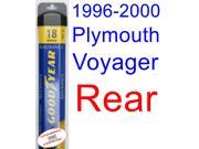 1996-2000 Plymouth Voyager Wiper Blade (Rear) (Goodyear Wiper Blades-Assurance) (1997,1998,1999)
