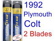1992 Plymouth Colt Vista Replacement Wiper Blade Set/Kit (Set of 2 Blades) (Goodyear Wiper Blades-Assurance)