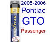 2005-2006 Pontiac GTO Wiper Blade (Passenger) (Goodyear Wiper Blades-Assurance)